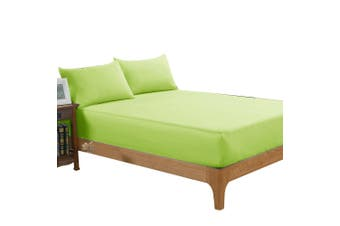 DreamZ Ultra Soft Fitted Bed Sheet with two Pillow Cases King Size Green