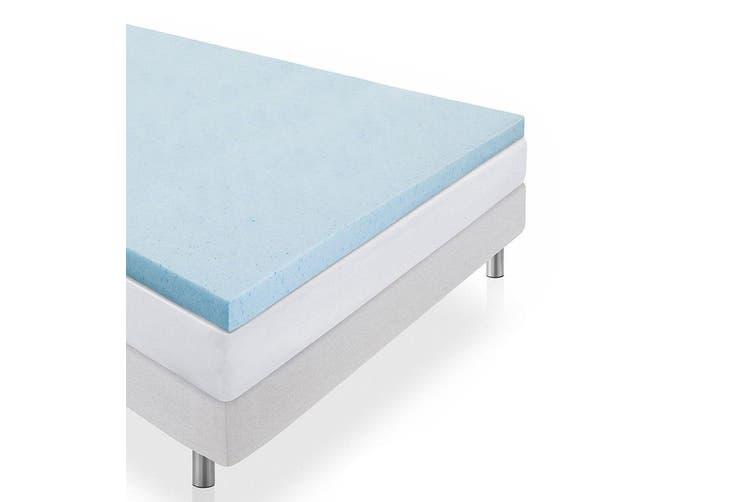 DreamZ 8cm Thickness Cool Gel Memory Foam Mattress Topper Bamboo Fabric King