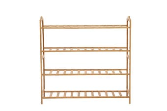 Levede Bamboo Shoe Rack Storage Wooden Organizer Shelf Stand 4 Tiers Layers 80cm