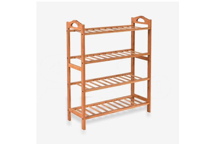 Levede 4 Tiers Bamboo Shoe Rack Storage Organizer Wooden Shelf Stand Shelves