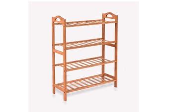 2x Levede 4 Tier Bamboo Shoe Rack Shoes Organizer Storage Shelves Stand Shelf
