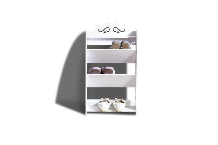 Levede 4 Tiers 43 Width Tilt Chic Hollow Shoe Rack Stand Storage Organiser Shelf