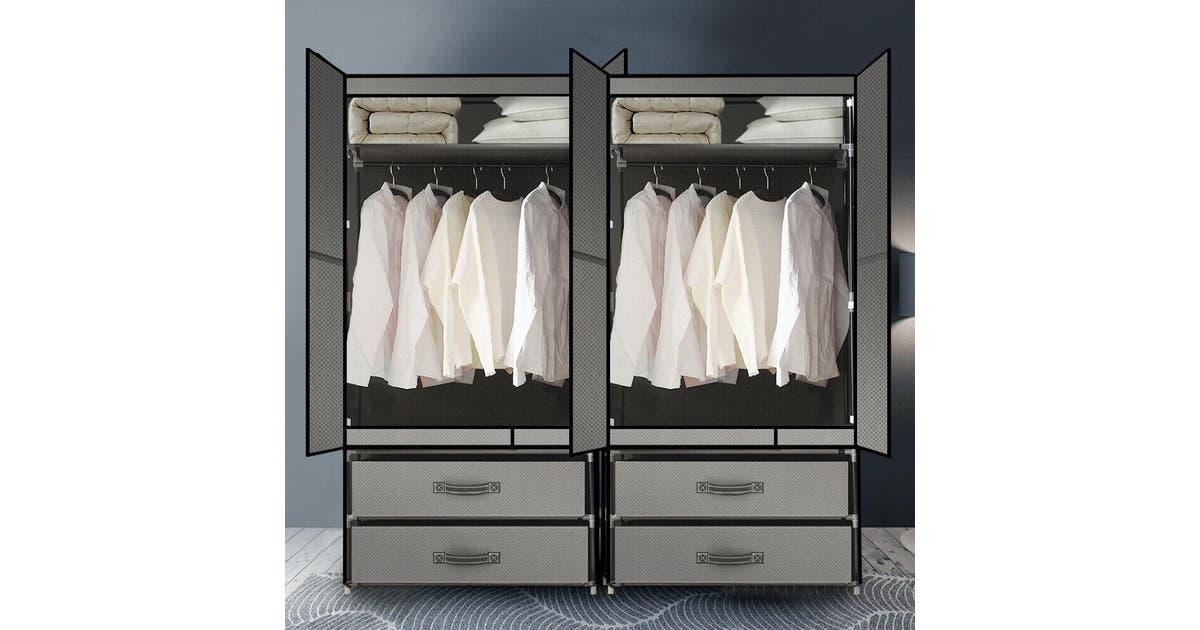 Large Portable Clothes Closet Wardrobe