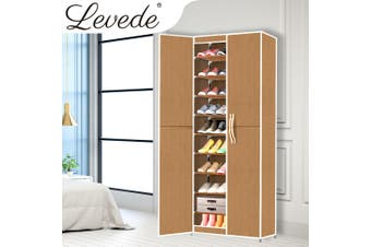 Levede Shoe Storage Cabinet Portable Organiser Shoes Rack Wardrobe Coffee Cover