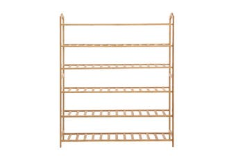 Levede Bamboo Shoe Rack Storage Wooden Organizer Shelf Stand 6 Tiers Layers 90cm