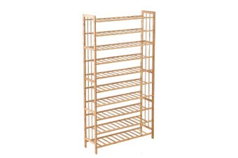 Levede 10 Tiers 80cm Wide Bamboo Shoe Rack Storage Wooden Organizer Shelf Stand
