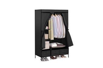 Levede Portable Clothes Closet Wardrobe Black Storage Cloth Organiser Unit Shelf Rack