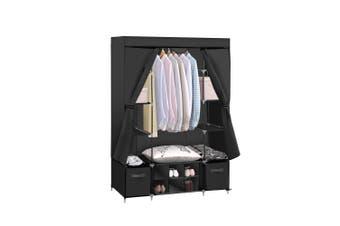 Levede Portable Wardrobes Shoe Rack Large Clothes Cabinet Closet Storage Black