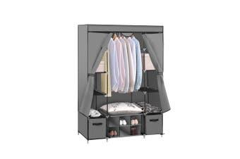 Levede Portable Wardrobes Shoe Rack Large Clothes Cabinet Closet Storage Grey