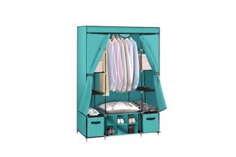 Levede Portable Wardrobes Shoe Rack Large Clothes Cabinet Closet Storage Blue