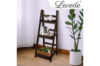 Levede 3 Tier Ladder Shelf Stand Storage Book Shelves Shelving Display Rack