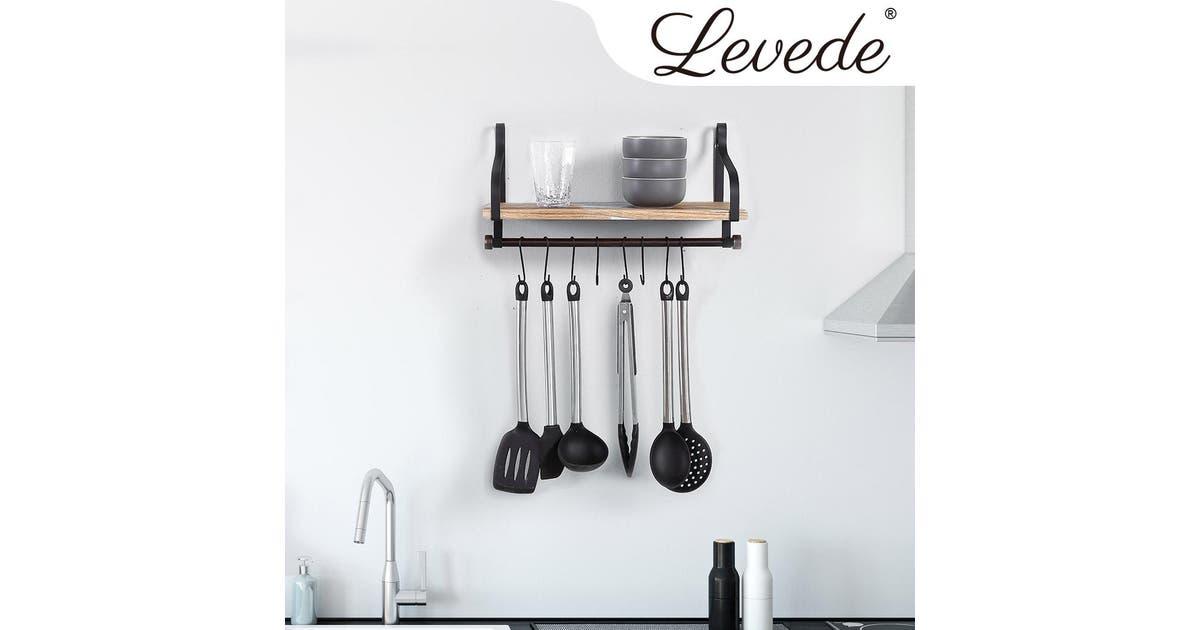 traderight levede wall shelf floating shelves brackets wall mount display rack storage 1pc ec1011 1pk
