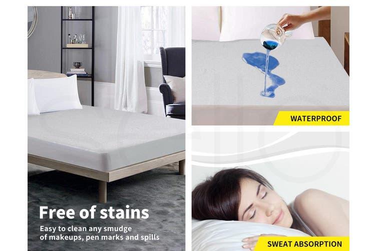 DreamZ Mattress Protector Fitted Sheet Cover Waterproof Cotton Fibre Queen
