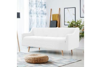 Couch Stretch Sofa Lounge Cover Protector Slipcover 4 Seater Ivory