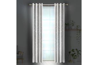 DreamZ Blackout Eyelet Curtains Star Blockout Curtain Fabric Bedroom Darkening