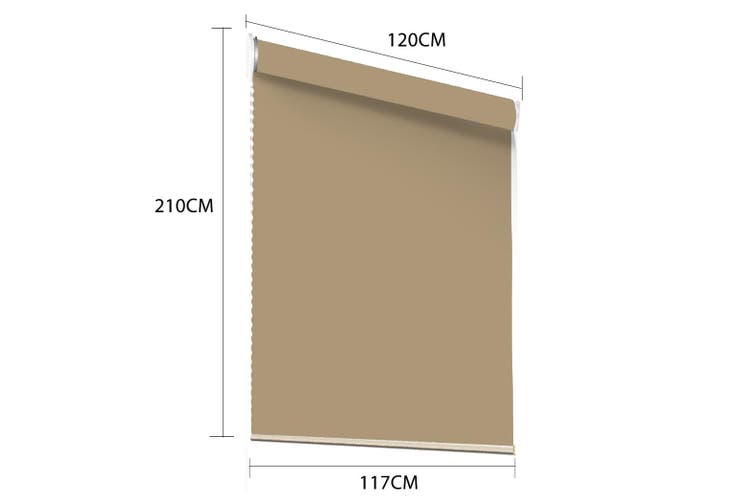 Modern Blockout Roller Blinds Curtain Full Sun Shading Room Tan 120cmx210cm