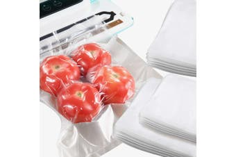 100x Commercial Grade Vacuum Sealer Food Sealing Storage Bags Saver 16.5x25cm
