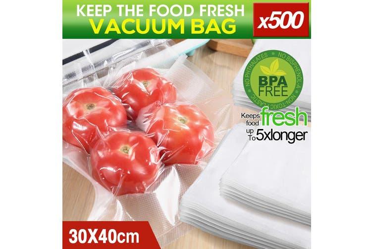500x Commercial Grade Vacuum Sealer Food Sealing Storage Bags Saver 30x40cm