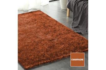 Floor Rugs Shaggy Rug Ultra Soft Shag Confetti Carpet Anti-Slip Living Room Mat Champagne