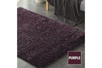 Floor Rugs Shaggy Rug Ultra Soft Shag Confetti Carpet Anti-Slip Living Room Mat Purple