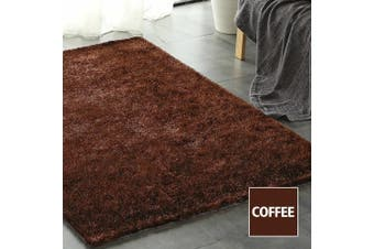 Floor Rugs Shaggy Rug Ultra Soft Shag Confetti Carpet Anti-Slip Living Room Mat Coffee