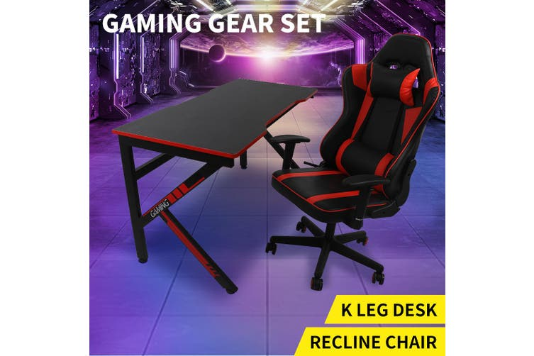 Dick Smith Gaming Chair Desk Computer Gear Set Racing Desk Office Laptop Chair Study Home Indoor Furniture