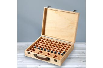 Essential Oil Storage Box Wooden 70 Slots Aromatherapy Container Organiser