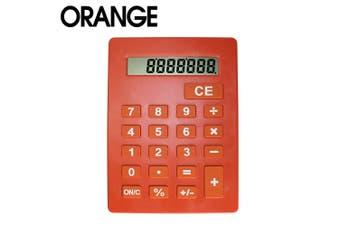 Jumbo Calculator Large Size Display Home Office Desktop Big Buttons Orange