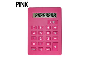 Jumbo Calculator Large Size Display Home Office Desktop Big Buttons Pink