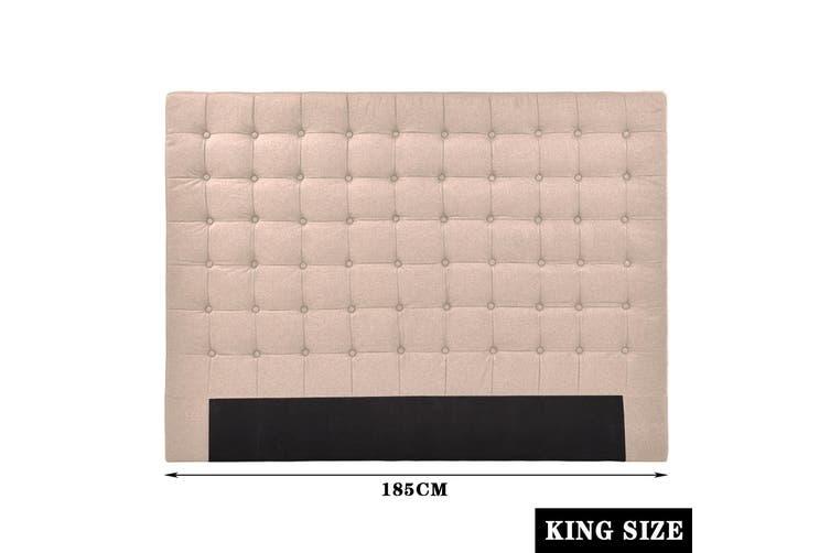 Levede Bed Frame Double Queen King Size Headboard Bed Head Fabirc Base