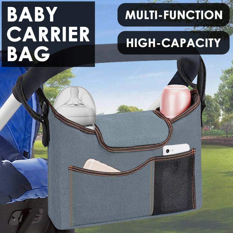 Baby Organiser Mummy Bag Storage Buggy Stroller Pram Pushchair Bottle Cup Holder