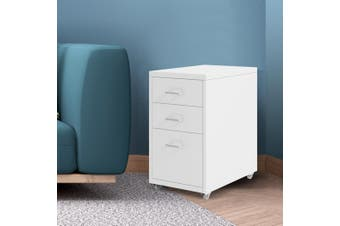 Filing Cabinet Storage Cabinets Steel Metal Home Office Organise 3 Drawer White