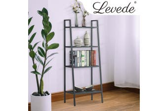 4 Tier Ladder Shelf Unit Bookshelf Bookcase Book Storage Display Rack Stand