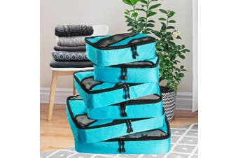 6Pcs Packing Cube Travel Storage Toiletry Bag Luggage Organiser Clothes Suitcase