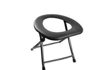 Camping Toilet Chair Folding Portable Toilets Seat Caravan Outdoor Travel Sliver