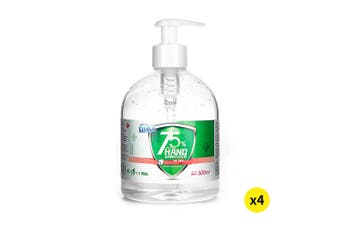 Cleace 4x Hand Sanitiser Instant Gel Wash 75% Alcohol 99% Anti Bacterial 500ML