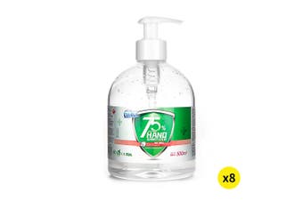 Cleace 8x Hand Sanitiser Instant Gel Wash 75% Alcohol 99% Anti Bacterial 500ML