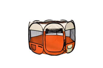 PaWz Pet Soft Playpen Dog Cat Puppy Play Round Crate Cage Tent Portable XL
