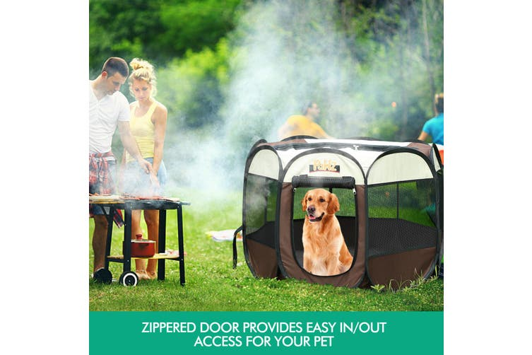 """PaWz Dog Playpen Pet Play Pens Foldable Panel Tent Cage Portable Puppy Crate 42"""""""