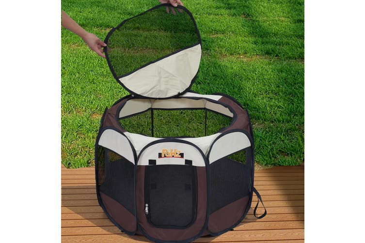 """PaWz Dog Playpen Pet Play Pens Foldable Panel Tent Cage Portable Puppy Crate 48"""""""