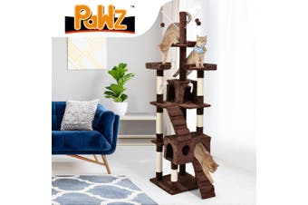PaWz Cat Tree Scratching Post Scratcher House Condo Tower Furniture Trees Brown