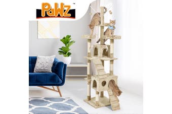 PaWz Cat Tree Scratching Post Scratcher House Condo Tower Furniture Trees Cream