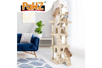 PaWz Cat Tree Scratching Post Scratcher House Pet Condo Tower Furniture Beige