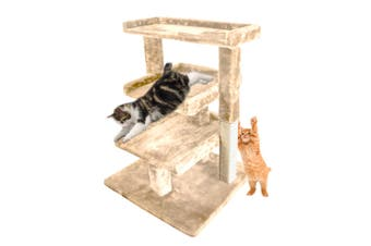 PaWz 0.84M Cat Scratching Post Tree Gym House Condo Furniture Scratcher Tower Beige