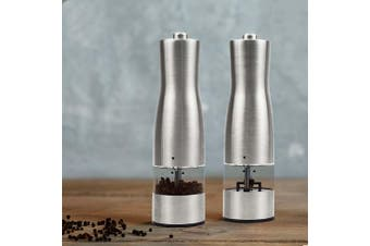 Stainless Steel Electric Salt Pepper Grinder Ceramic Mills Shakers Spice