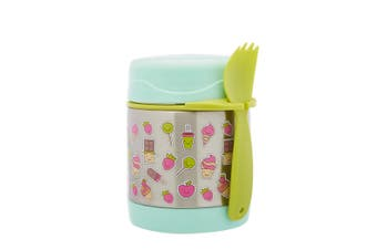 Braised beaker Kid Stainless Vacuum Insulated Food Jar Container Funtainer 300ml Green