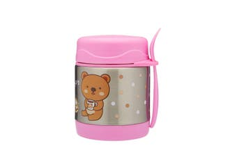 Braised beaker Kid Stainless Vacuum Insulated Food Jar Container Funtainer 300ml Pink