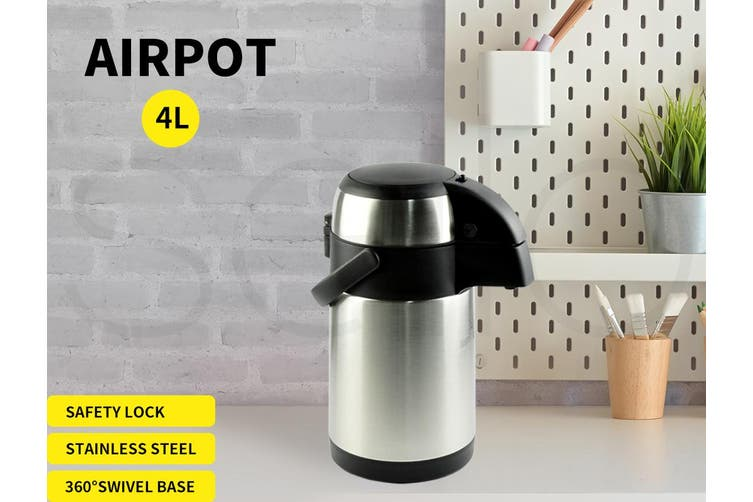 Airpot Stainless Steel Air Pots Vacuum Insulated Pot Pump Hot Cold Flask 4L