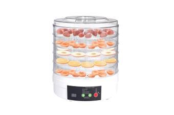 Food Dehydrators Fruit Vegetable Dryer Dehydrator Beef Jerky Preserve 5 Trays