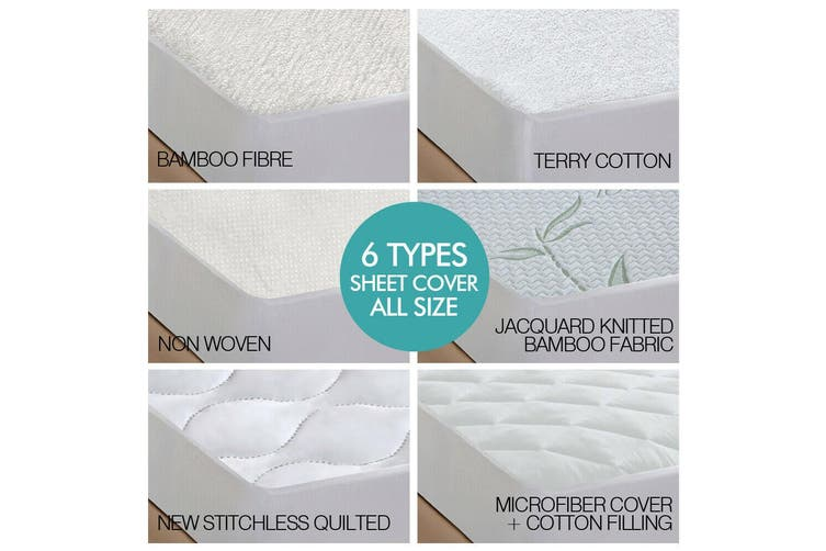 DreamZ Fully Fitted Waterproof Breathable Bamboo Mattress Protector Single Size